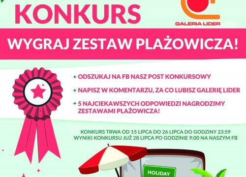 KONKURS WYGRAJ ZESTAW PLAŻOWICZA!