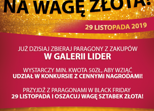 KONKURS Black Friday na wagę złota!