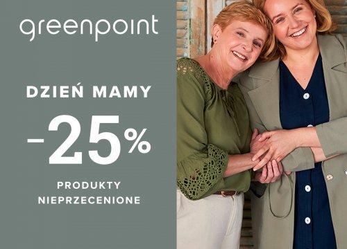 -25% na nieprzecenione produkty z okazji Dnia Matki tyko w Greenpoint