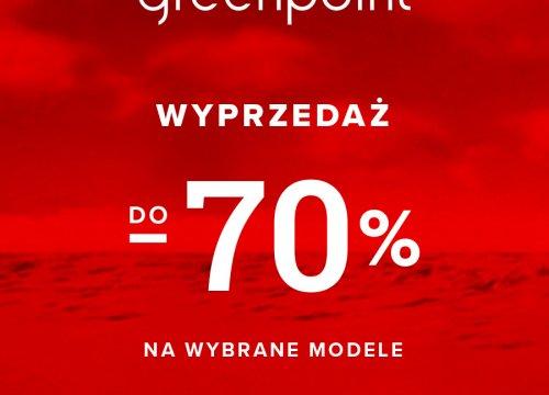 Wyprzedaż do -70% w Greenpoint