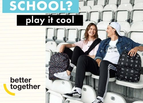 50 style. SCHOOL? PLAY IT COOL!
